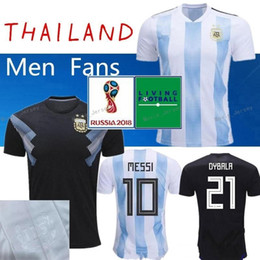 804348136dd NEW 2018 World Cup Argentina Jersey Argentina MESSI DYBALA DI MARIA AGUERO  HIGUAIN soccer shirt home national team POLO Football jersey