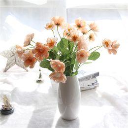 Cloth Bouquet Australia - Small Artificial Flowers Poppy Bouquet Wedding Decoration Silk Cloth Mini Fake Flowers Home Hotel Decorative Flowers