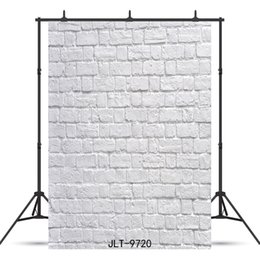 Discount new for board white brick board Vinyl photography background for portrait child baby shower new born backdrop photocall photo studio