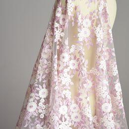 $enCountryForm.capitalKeyWord Australia - 1 Yard Multicolor Flower Embroidered Fabric Material African Lace Net Fabric Sew Wedding Dress Robe Fabric Diy Red Purple
