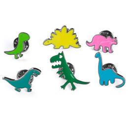 $enCountryForm.capitalKeyWord NZ - Cute Dinosaur Series Drip Brooches Delicate Cartoon Jewelry Scarf Lapel Brooch Pin Dress Decoration Clothing Accessories