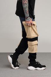 $enCountryForm.capitalKeyWord Australia - Multi Pockets Camouflage Spliced Jogger Harem Camo Sweatpants Trousers Strapped Army Safari Cargo Pants Men
