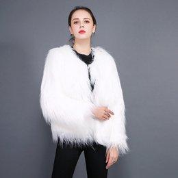 White Faux Fur Shorts Australia - TUHAO Female Plush Short Fluffy Warm Faux Fur Coat Solid Long Sleeve Streetwear Casual Fur Coat Large Size Winter Overwear LQ303