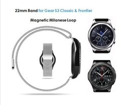 Milanese Loop For Gear Australia - 22MM Magnetic Milanese Loop For Samsung Gear S3 Classic S3 Frontier Watch Band Bracelet Strap Stainless Steel Band black sliver