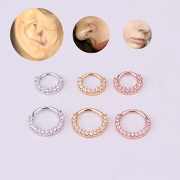 $enCountryForm.capitalKeyWord Australia - ROXI 1pcs CZ Nose Hoop Nostril Ring Piercing Tragus Nose Rings for Women Men Ear Cartiliage Tragus Sexy Body Jewelry Clip Gift
