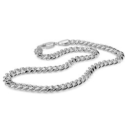 Discount chain necklace boys - 100% sterling silver men's necklace punk style 7.5mm 51cm whip chain necklace Fashion cool men   boy 925 silver jew