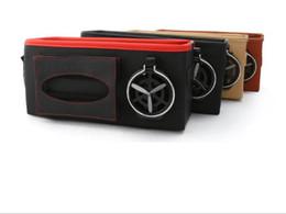 Back Seat Storage Organizer Australia - PU Leather Car Seat Back Organiser Tidy Organizer Travel Kid Storage Bag Pocket Cup Holder