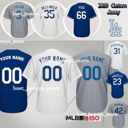 1e858bed229 Gonzalez Jersey Australia - Customized 22 Clayton Kershaw 14 Enrique  Hernandez Los Angeles jerseys Dodgers 3