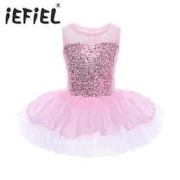 $enCountryForm.capitalKeyWord NZ - Sequins Kids Ball Gown Dress Christmas Gift Party Fancy Costume Cosplay Tutu Leotard Dress Girls Ballet Flower Dancewear Clothes J190505