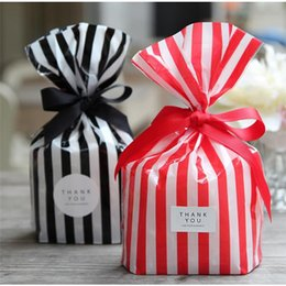 $enCountryForm.capitalKeyWord Australia - Cute Stripe Candy Bag Plastic Gift Bags for Cookie Biscuits Snack Baking Packaging Bag for Wedding Birthday Party Supplies
