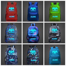 dbe9aff71b Marshmello Alone DJ Luminous School Bag noctilucous student backpack for girls  boys teenagers children s cool bookbag kids handbag FFA1711