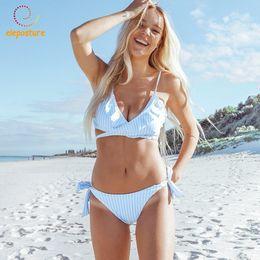 $enCountryForm.capitalKeyWord Australia - 2019 Sexy Bikini Women Swimsuit Push Up Swimwear Criss Cross Bandage Bikini Set Ruffle Bathing Suit Brazilian Biquini Beach Wear Y19072601