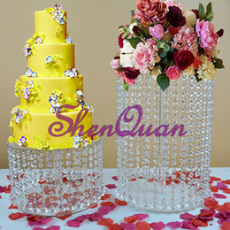 d=60cm 23.6 Christmas Big Tall Cake Stand Crystal Acrylic Cake Table Centerpieces Crystal Wedding Cake Holder Flower Display Festive & Party Supplies
