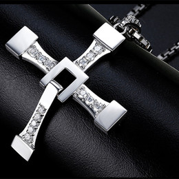 Discount cross fast furious stainless steel (12 pcs lot) Mimeng Fast and Furious 8 Cross Necklace Stainless Steel Necklace for Men Dominic Toretto Cross Pendant Nec