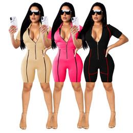 $enCountryForm.capitalKeyWord NZ - designer ladies explosion models Europe and the United States hot sexy fashion slim short jumpsuit women