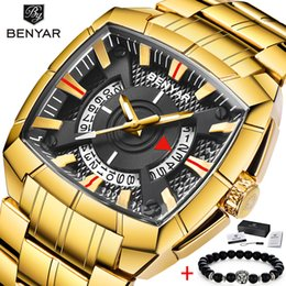 $enCountryForm.capitalKeyWord Australia - 2019 BENYAR Brand Original Unique Design Men Wristwatch Wide Big Dial Casual Quartz Watch Gold Male Sport Watches Large Clock