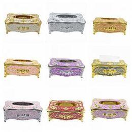 Tissue box holders online shopping - European Style Paper Box Plastic Fashion Tissue Boxes Home Office KTV Hotel Car Facial Napkin Box Case Holder styles GGA1625