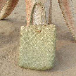 $enCountryForm.capitalKeyWord NZ - Hot sale Summer Beach Bag Rattan grass Weaved Casual Tote Shopping Handbags Women Travel Tourist Storage Bag Shoulder Bag(gree