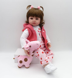 silicone puppet Australia - bebes reborn doll 47cm soft silicone reborn toddler baby dolls com corpo de silicone menina Christmas surprice gifts lol doll
