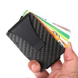 $enCountryForm.capitalKeyWord Australia - New Fashion Slim Carbon Fiber Credit Card Holder Rfid Non-scan Metal Wallet Purse Male Carteira Masculina Billetera