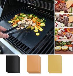 Toptan satış Yeniden kullanılabilir Dayanıklı Isı Yapışmaz barbekü Mat Kolay Temiz Grill Mat Sac Pişirme Sac Taşınabilir Açık Piknik Barbekü Aracı Pişirme