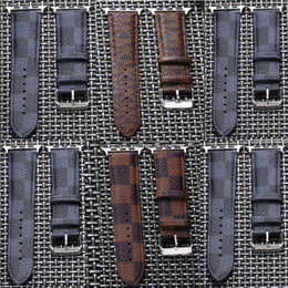 s2 smart watches NZ - Designer Grid Bands Leather Strap for Apple Watch Bands iwatch Series 4 S1 S2 S3 S4 38 40mm 42 44mm Smart watch Belt Buckle Printed GSZ504