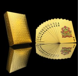 Poker High Cards Australia - Poker Card Gold foil plated Playing Cards Plastic Poker Waterproof High Quality Local Gold Waterproof PET PVC General style Wholesale