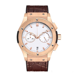 Chinese  Men's Automatic Watches Stainless Steel Leather Belt Top Large Size Mechanical Motion Watch Large Needle Timing and Running Seconds 2019 manufacturers