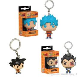 Free Goku Figures Australia - Funko Pocket POP Keychain - Super Saiyan Goku Blue Hair Dragon Ball Z Vinyl Figure Keyring with Box Toy Gift Good Quality Free Shipping