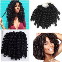 $enCountryForm.capitalKeyWord NZ - Hot! 5Pcs Lot Full Head 8 inch Wand Curl Braids Hair 20 Roots JAMAICAN BOUNCE Synthetic Braiding Hair Crochet Braids Hair Extensions