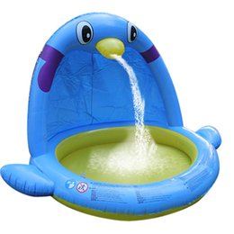 $enCountryForm.capitalKeyWord UK - Children's Large Water Spray Game Mat Indoor Swimming Pool Thickened Penguin Shape Inflatable Paddling Pool Wholesale
