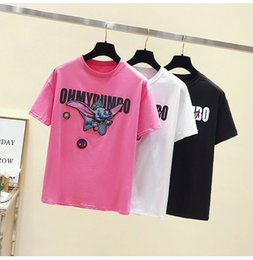 Young Girl Shirts Australia - Short Sleeve Young Girl T-shirt Cartoon Embroidery Womens Tees Fashion Casual Cotton Student T-shirt Round Collar Summer T-shirts