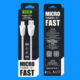 Опт VPB Быстрая зарядка 1M 3FT Micro USB-кабель Синхронизация данных Шнур для samsung huawei xiaomi Сотовый телефон Зарядное устройство Кабель с розничной упаковке
