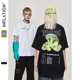 hip hop couple t shirt NZ - Inflation Picture Print Fan Tee Mens Hip Hop Casual Short Sleeve Tops Tees Streetwear Swag Skateboard T-shirts Couple Tee 91261s Y19060601