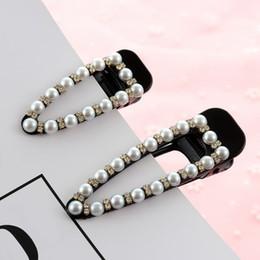 $enCountryForm.capitalKeyWord Australia - Trendy Pearl Hair Clip Clamp Hairpin for Women Girls Hairpin Rhinestone Bobby Pin Hair Styling Accessories