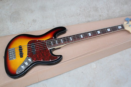 bass guitars sales 2019 - Sell like hot cakes 5 string bass guitar,The black edge of the orange body ,ex-factory price sale, free shipping!