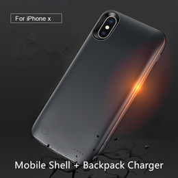 $enCountryForm.capitalKeyWord Australia - mobile phone shell External Battery Case Power Charger Charging Cover for iPhone X 3800mAh Charging Backpack Soft Rubber portable source
