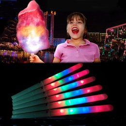 fairies toys for kids NZ - Flashing Cotton Candy LED Sticks LED Light Stick Flash Night Lights Fairy Stick For Halloween Christmas Bar Club Party Garden kids toy gifts