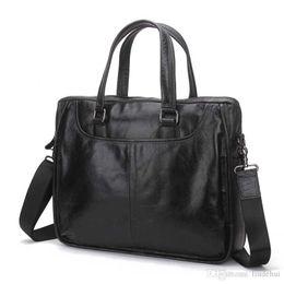 China Hot New Fashion quality business Korean version of the shoulder Messenger bag briefcase portable casual business retro leather messenger bag cheap korean men briefcase suppliers