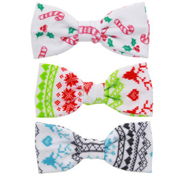 Wholesale Girls Hair Bows Christmas Bows Candy Cane Bow Poinsettia Reindeer Santa Hairpin Girls Christams Hair Accessories Baby xmas clips
