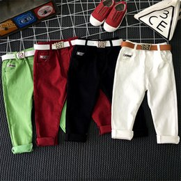 Red White Blue Tutus Australia - Children's clothing boy pants spring and autumn tide 2018 casual pants girls trousers white black red green candy