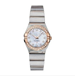 Jade Dresses Australia - Luxury Women Dress Watches 28mm Elegant Stainless Steel Rose Gold Watches High Quality Lady Rhinestone Quartz Wristwatches