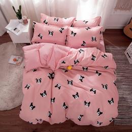 Discount california king beds - New nordic soft modern printing sanding AB version aloe cotton small fresh 4 sets of environmentally friendly comfortabl