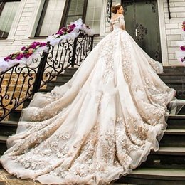 long casual dress train Australia - Newest Wedding Dresses 2018 Luxury Cathedral Royal Train Lace Vestido De Noiva Appliques Long Sleeve High Quality Wedding Gowns Y19072901