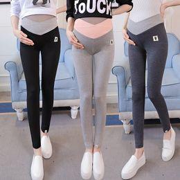 Leggings Pregnant Australia - New Maternity Pants V-waist Adjust Elastic Pregnant Skinny Leggings For Women's Knitted Fashion Clothing Pregnancy Belly Clothes