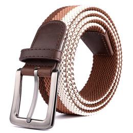 Elastic Boys Belts NZ - Fashions Breathable Waist Straps Elastic Woven Belts Men's Women's Hip Hop Leisure Waistband High Quality Unisex Luxury Informal Belts