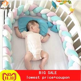 Cotton Braiding Australia - 2 3m Nordic Long Knotted Braid Pillow Cotton Knots Cushion Decorative Sofa Pillow Baby Bumper Crib Bed Protector Kids Room Decor Q190429