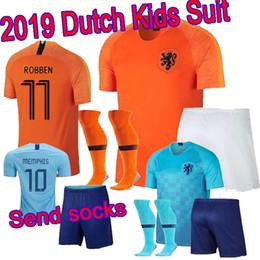 2019 new Nederland kids soccer jersey 1819 home orange netherlands HOLLAND  ROBBEN SNEIJDER V.Persie Dutch away boy set football shirts fe35d8f1a