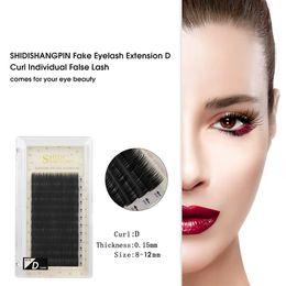 fbaa9c47520 Wholesale Lash Extension Supplies NZ - SHIDISHANGPIN Fake Eyelashes  Extension Individual False Lashes D Curl Black