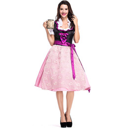China Lovely Bavarian Oktoberfest Beer Girl Costume Germany Wench Waitress Servant Mini Dress Maid Cosplay Outfit Carnival Fancy Dress suppliers